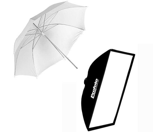Umbrela sau Softbox